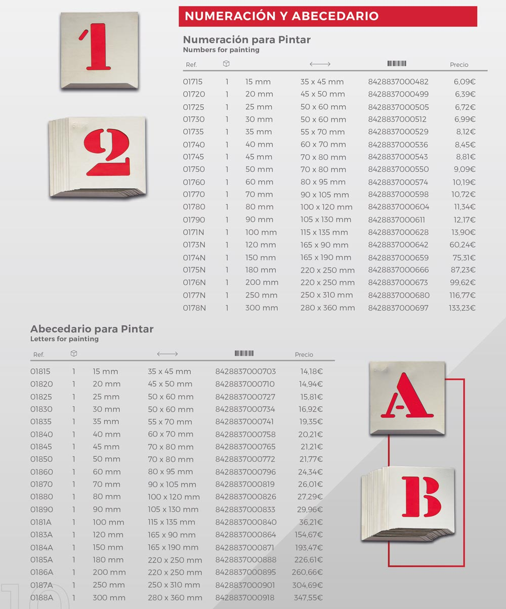 Numeración y abecedario
