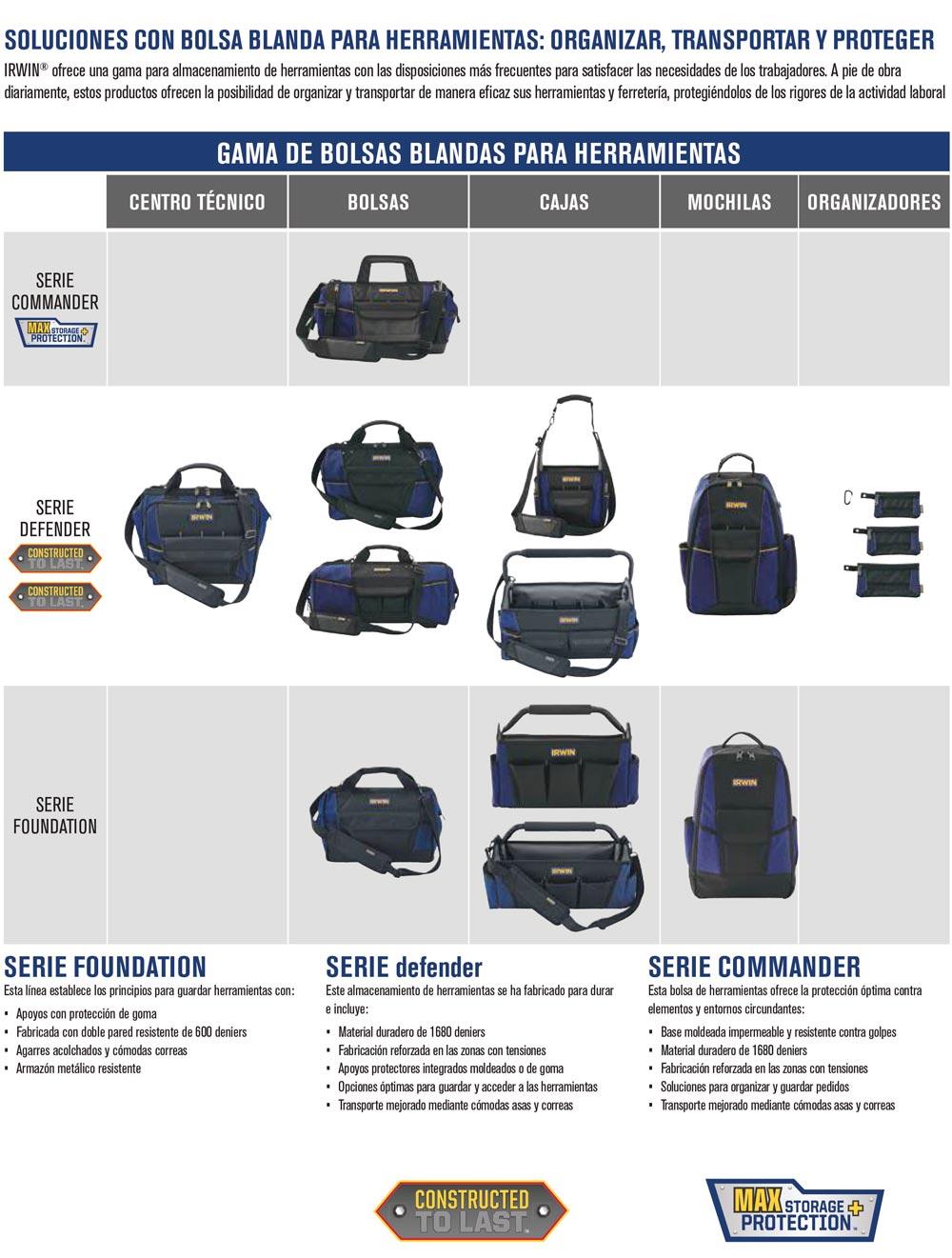 almacenamiento herramientas ropa profesional