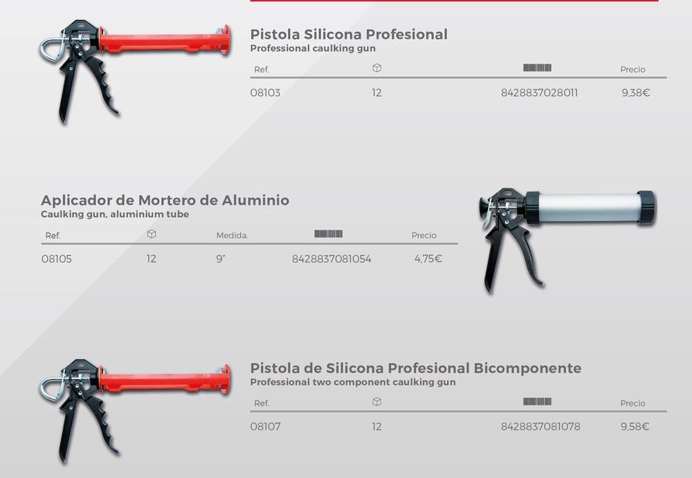 pistolas de silicona NUSAC