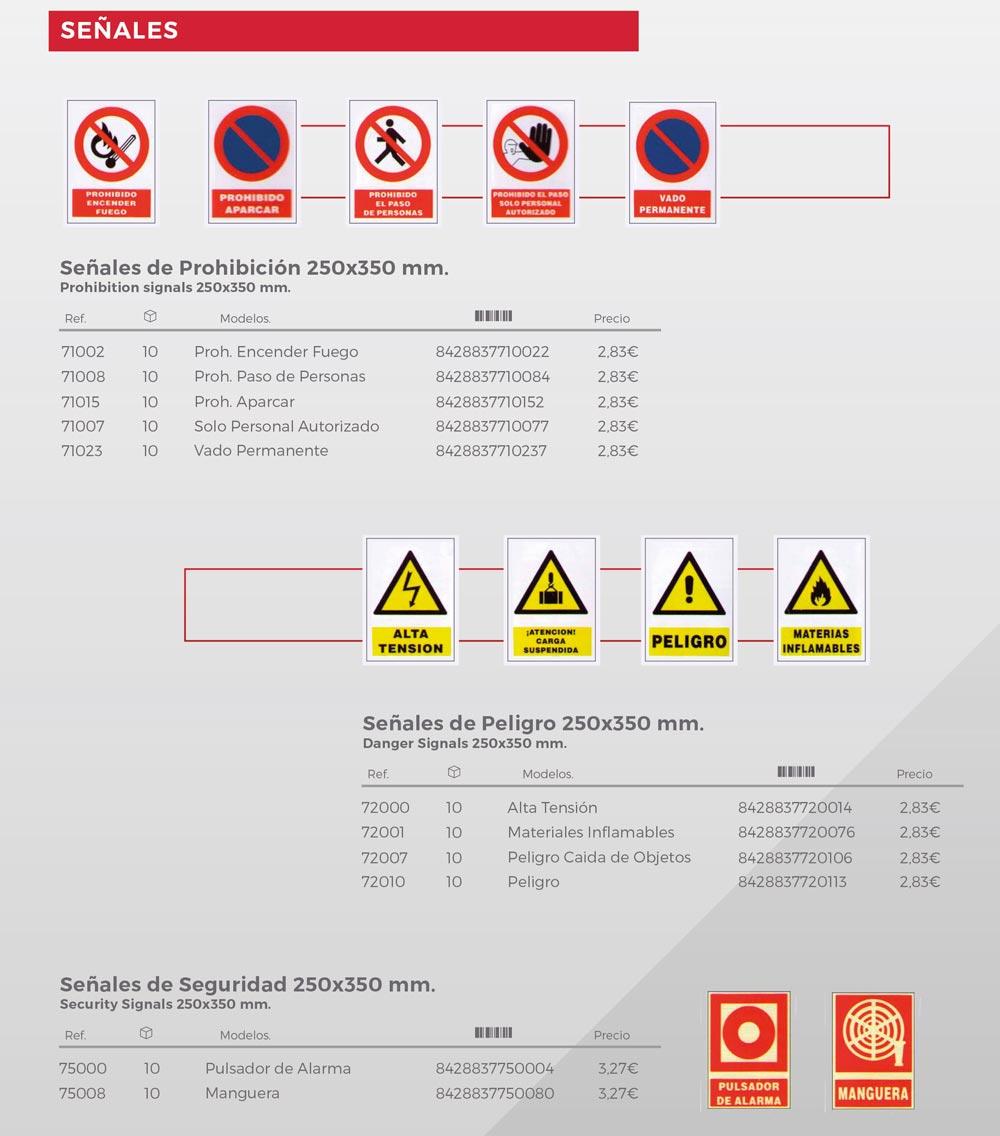 señalización e iluminación NUSAC