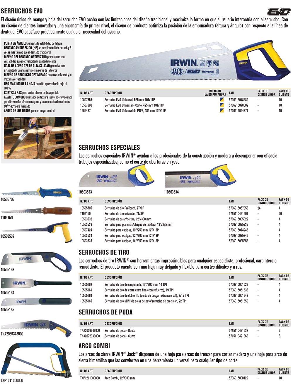 Herramientas para trabajos de madera
